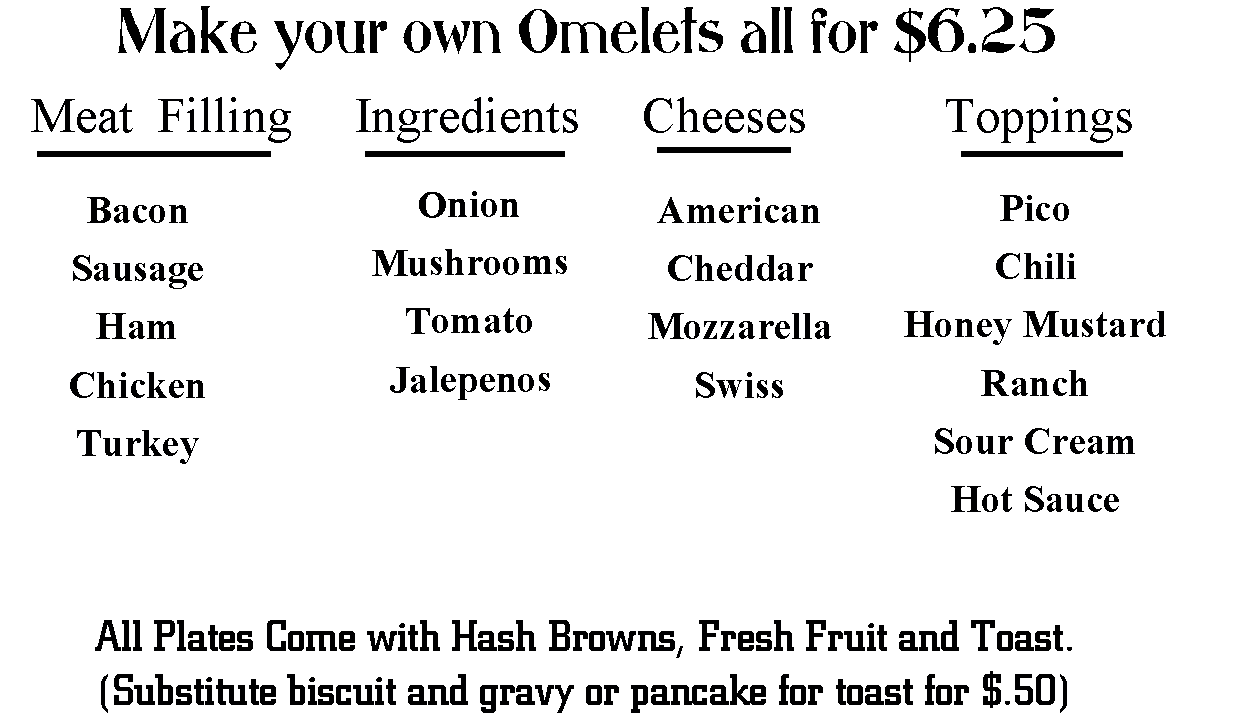 Make Your Own Omelets All for $6.25